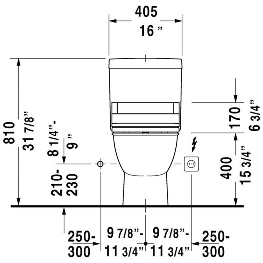Duravit Darling New Elongated 2 Piece Toilet Bowl
