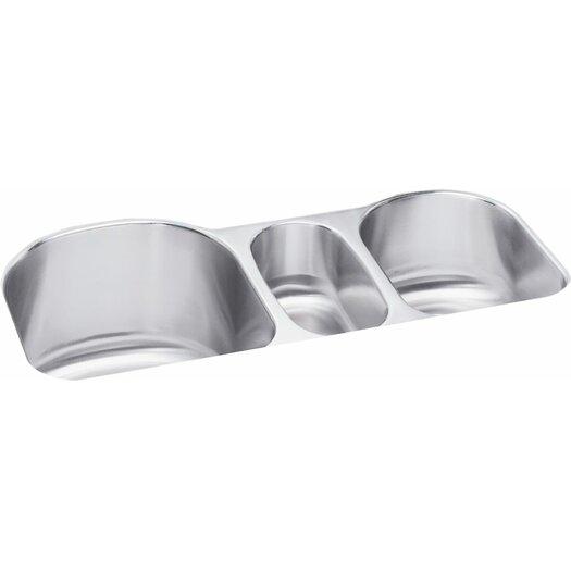 "Elkay 39.5"" x 20"" Undermount Triple Bowl Kitchen Sink"
