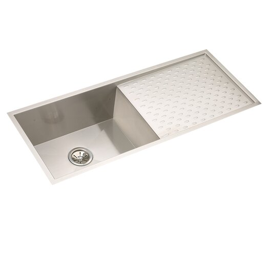 "Elkay Avado 43.5"" x 18.25"" Single Bowl Kitchen Sink with Work Area"