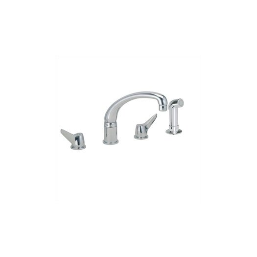 Elkay Two-Handle Widespread Kitchen Faucet with Side Spray