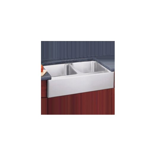 "Elkay 33"" x 20.5"" Undermount Double Bowl Kitchen Sink with Apron"