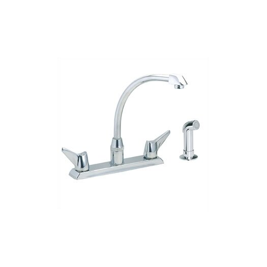 Elkay Centerset Kitchen Faucet with Wing Handles and Side Spray