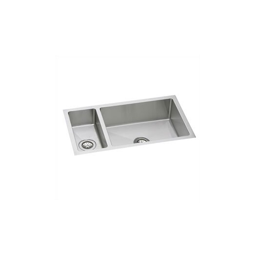 "Elkay Avado 32.25"" x 18.25"" Double-Multi Sized Bowl Undermount Kitchen Sink"