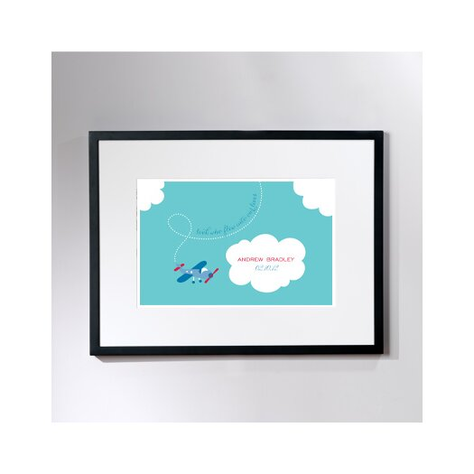Checkerboard, Ltd Personalized Tiny Skywriter Framed Graphic Art