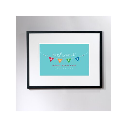 Checkerboard, Ltd Personalized Baby Bunting Framed Art