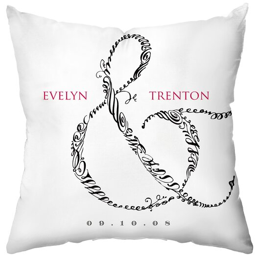 Checkerboard, Ltd Personalized Entwined Polyester Throw Pillow