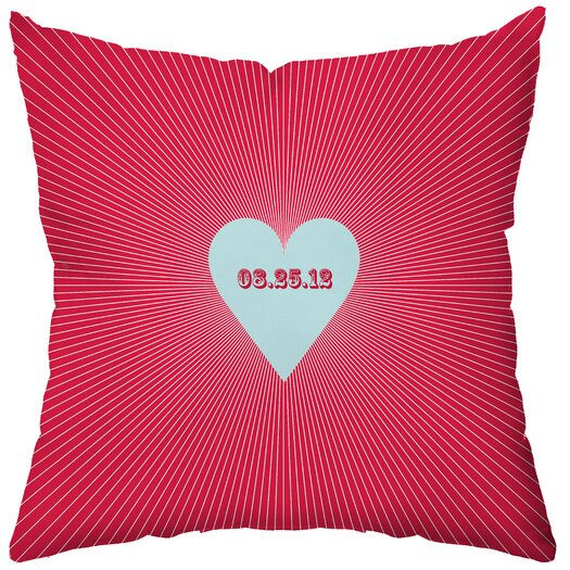 Checkerboard, Ltd Personalized Circa Polyester Throw Pillow