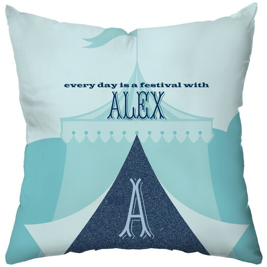 Checkerboard, Ltd Personalized Tingle Poly Cotton Throw Pillow
