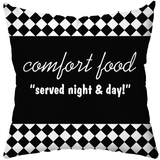 Checkerboard, Ltd Personalized Diner Poly Cotton Throw Pillow