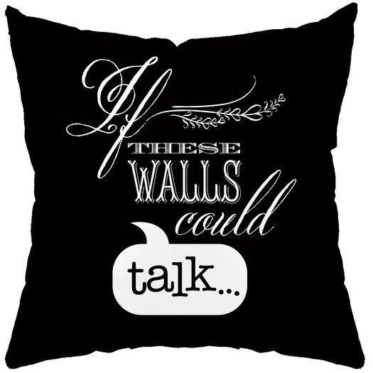 Checkerboard, Ltd Talking Walls Poly Cotton Throw Pillow