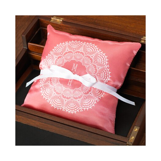 Checkerboard, Ltd Personalized Lace Ring Pillow