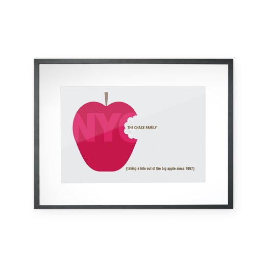 Checkerboard, Ltd Personalized Big Apple Framed Graphic Art
