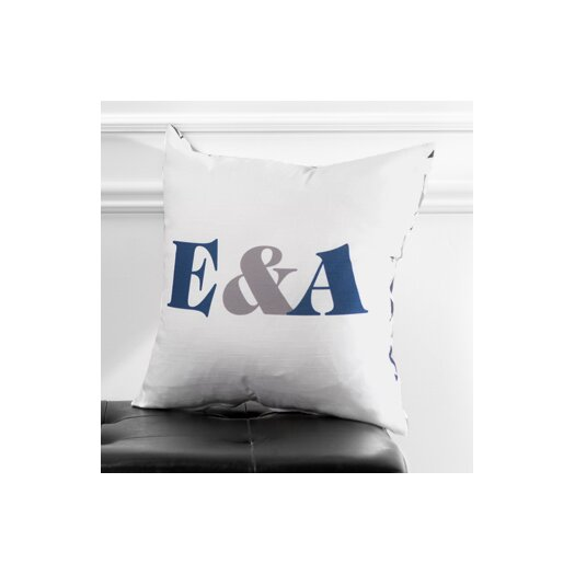 Checkerboard, Ltd Personalized Synergy Poly Cotton Throw Pillow