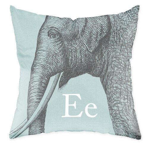Checkerboard, Ltd Elephant Polyester Throw Pillow
