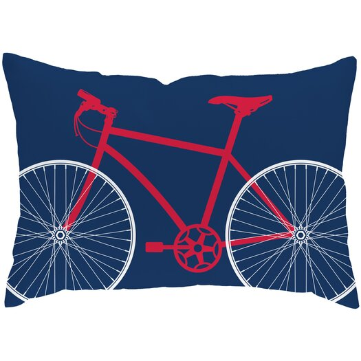 Checkerboard, Ltd Bicycle Polyester Outdoor Throw Pillow