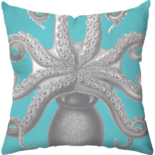 Checkerboard, Ltd Octopus Poly Cotton Outdoor Throw Pillow