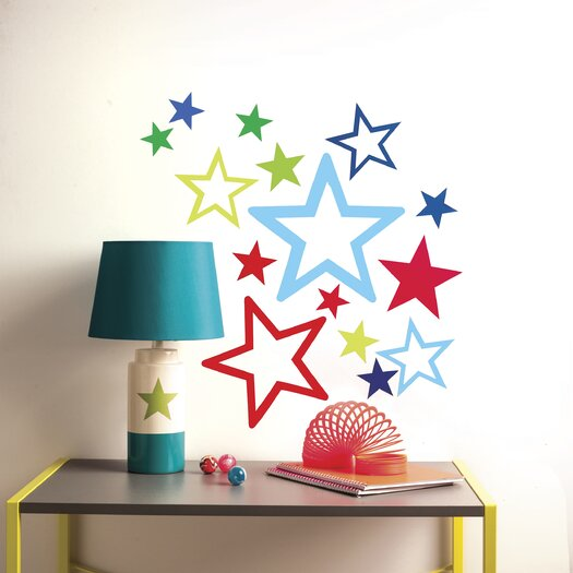 Wallies Peel & Stick Stars in Stars