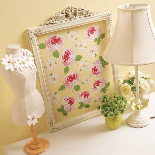 Roses and Daisies Wallpaper Cutouts
