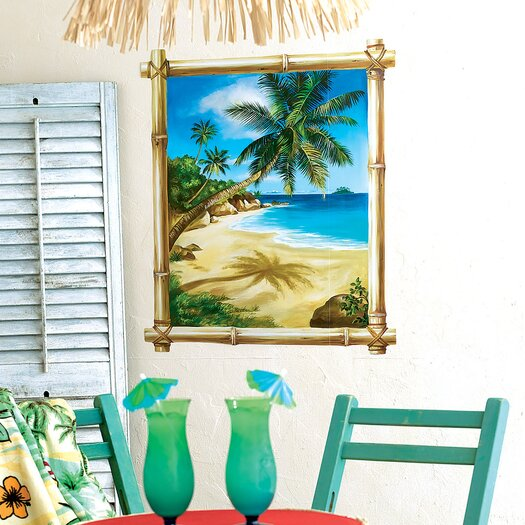 Wallies Tropical Window Wall Mural