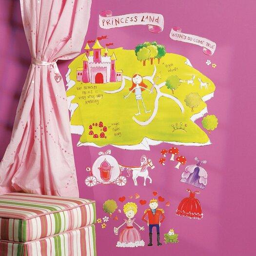 Wallies Princess Land Interactive Vinyl Peel and Stick Wall Mural
