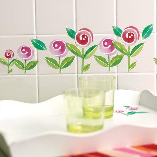 Wallies Lollipop Flowers Self-Adhesive Cutouts