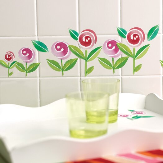 Wallies Lollipop Flowers Self-Adhesive Cutouts