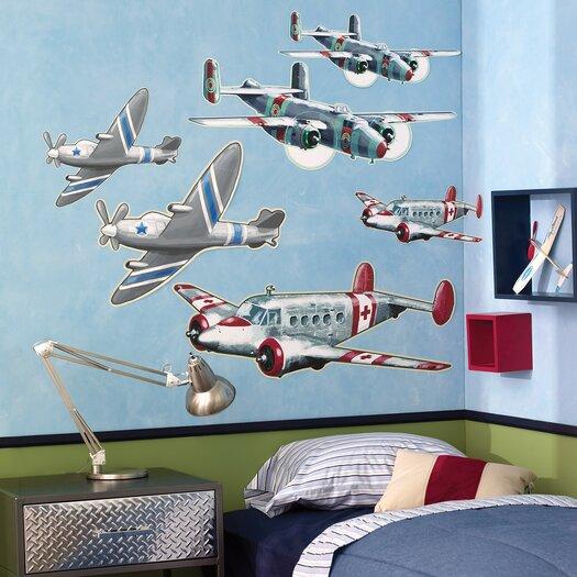 Wallies Airplanes Wallpaper Mural