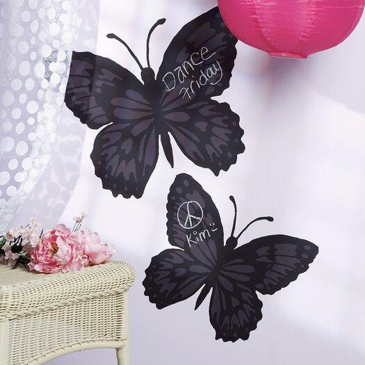 Wallies Butterfly Chalkboard Mural