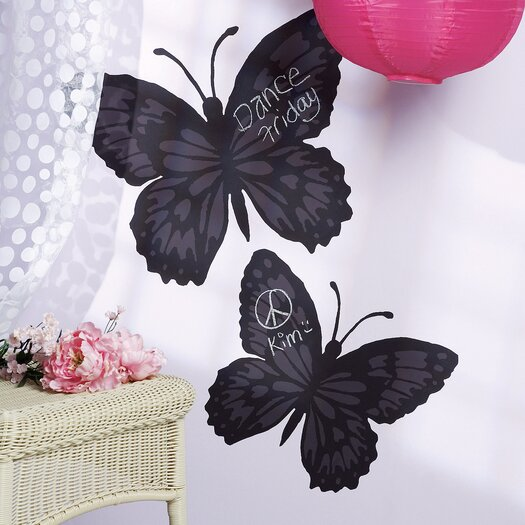 Wallies Butterfly Chalkboard Mural