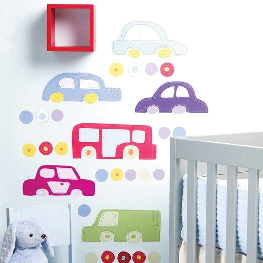 Wallies Riding Around Wall Stickers
