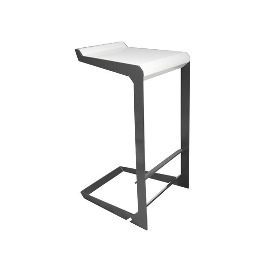 Nolen Niu, Inc. Laso Bar Stool with Leather Seat