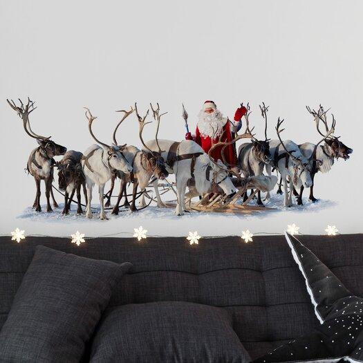 Christmas 2013 Santa and Reindeers Decals