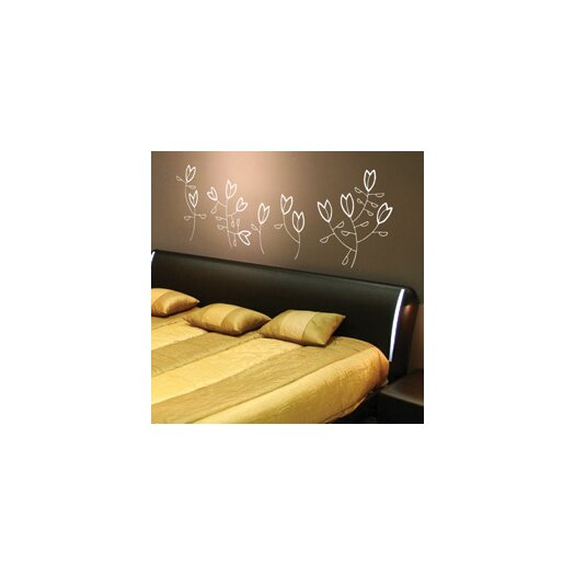Spot Korall Flowers Wall Decal
