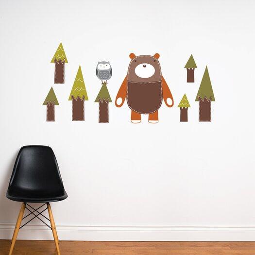 ADZif Piccolo Yuri the Bear Wall Sticker