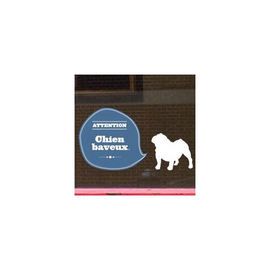ADZif Signal Drooling Dog Window Sticker