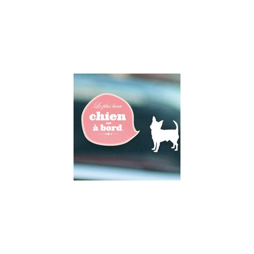 ADZif Signal Chien À Board Window Sticker