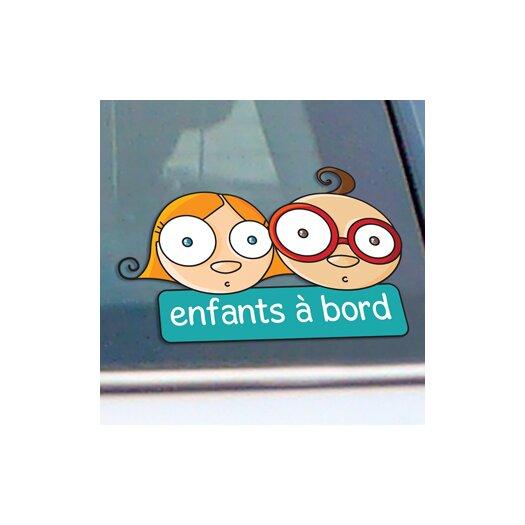 ADZif Signal Children on Board 2 Window Sticker