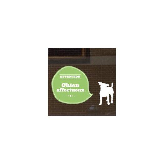ADZif Signal Affectionnate Dog Window Sticker