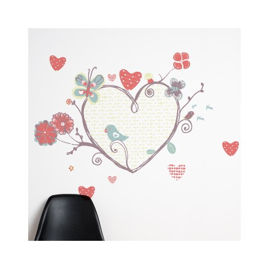 Piccolo a Perch with Heart Wall Decal