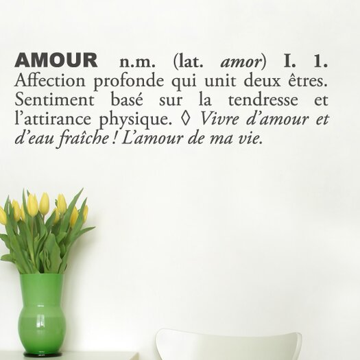 ADZif Blabla Amour (French) Wall Decal