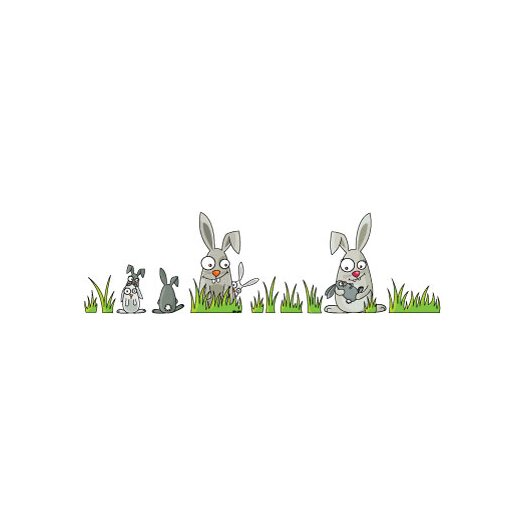 Ludo Rabbits Wall Decal