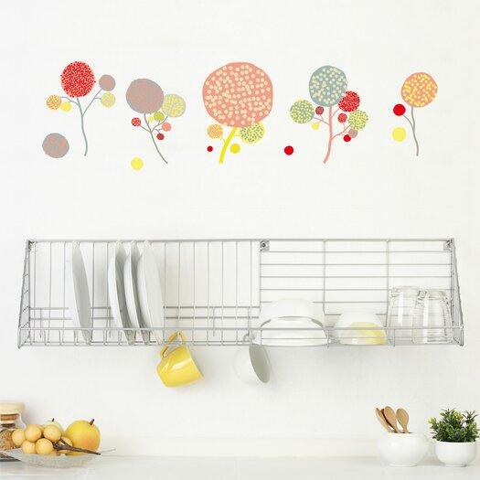 ADZif Spot Little Garden Pompom Flowers Wall Decal