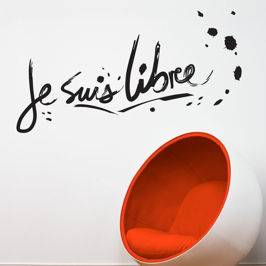 ADZif BlaBla Je suis libre Wall Decal