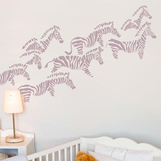 ADZif Piccolo Herd of Zebras Wall Sticker