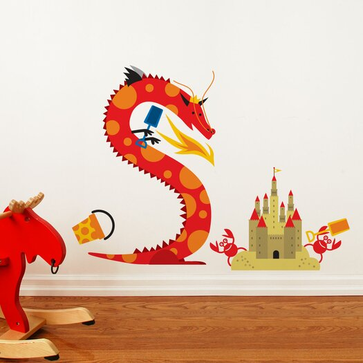 ADZif Piccolo Dragon Beach Wall Decal