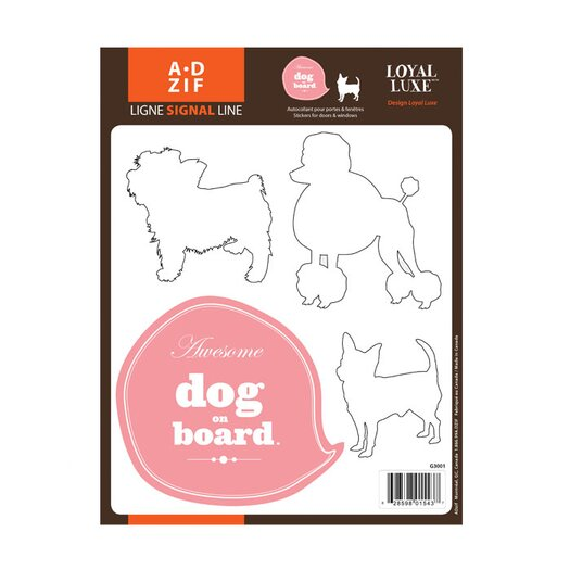 ADZif Signal Dog on Board Window Sticker