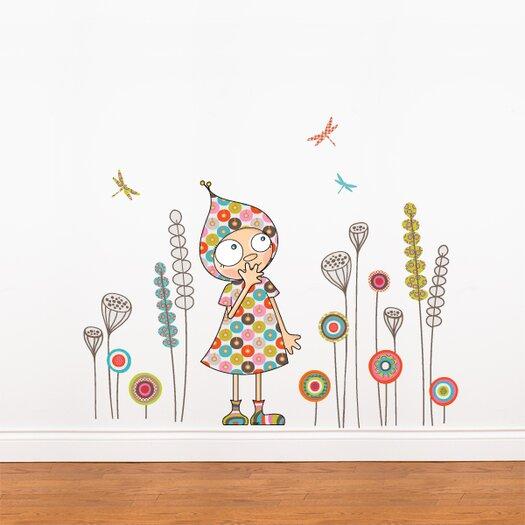 ADZif Ludo Violette's Garden Wall Decal