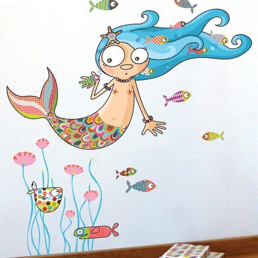 ADZif Ludo The Mermaid Wall Sticker