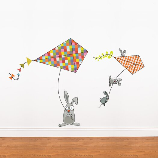 ADZif Ludo Bunnies and Kites Wall Decal
