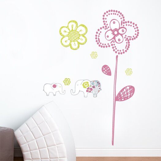 ADZif Piccolo Sweet Elephants Wall Decal